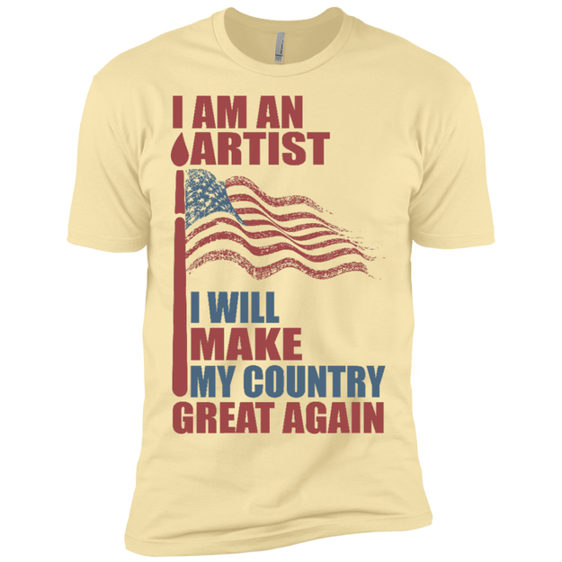 I Am An Artist. Premium T-Shirt-Funny, Smart and Inspiration shirts with saying