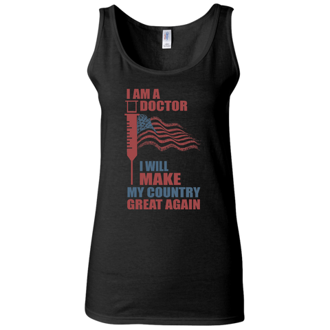 I Am A Doctor. Softstyle Fitted Tank-Women Tank Top-I Share Guru