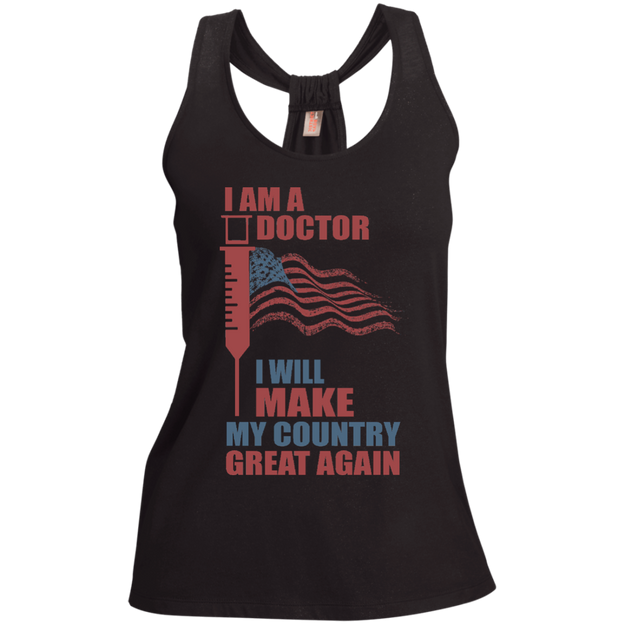 I Am A Doctor. Shimmer Loop Back Tank-Funny, Smart and Inspiration shirts with saying