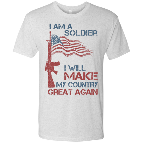 I Am A Soldier. Men's Triblend T-Shirt-Men T-Shirt-I Share Guru