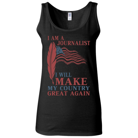 I Am A Journalist. Ladies' Softstyle Fitted Tank-Women Tank Top-I Share Guru