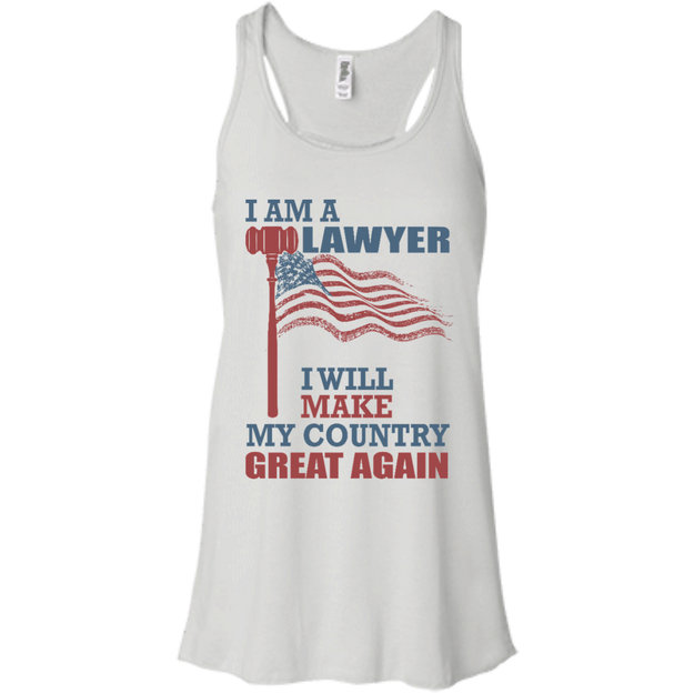 I Am A Lawyer. Flowy Racerback Tank-Funny, Smart and Inspiration shirts with saying