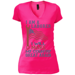 I Am A Laborer. Vintage Wash V-Neck T-Shirt-Funny, Smart and Inspiration shirts with saying