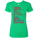 I Am An Artist. Ladies' Triblend T-Shirt-Funny, Smart and Inspiration shirts with saying