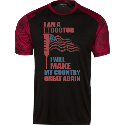 I Am A Doctor. Sport-Tek CamoHex T-Shirt-Men T-Shirt-I Share Guru