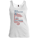 I Am A firefighter. Women's Scoop Neck Tank Top-Funny, Smart and Inspiration shirts with saying