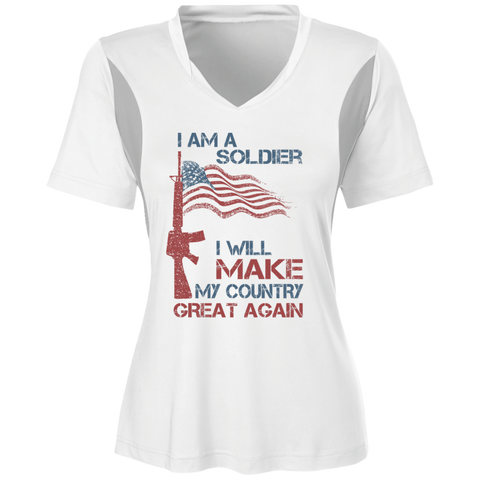 I Am A Soldier. Ladies' All Sport Jersey-Women T-Shirt-I Share Guru