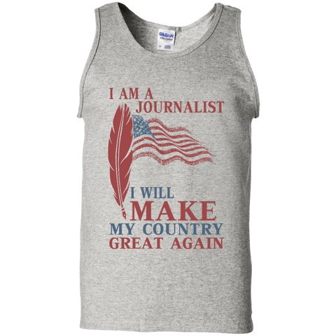 I Am A Journalist. 100% Cotton Tank Top-Tank Top-I Share Guru