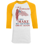 I Am A Journalist. Colorblock Raglan Jersey-Funny, Smart and Inspiration shirts with saying