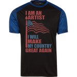 I Am An Artist. Sport-Tek Colorblock T-Shirt-Funny, Smart and Inspiration shirts with saying