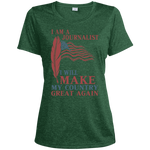 I Am A Journalist. Sport-Tek Heather Dri-Fit Moisture-Wicking T-Shirt-Funny, Smart and Inspiration shirts with saying