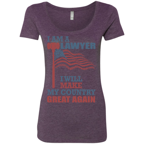 I Am A Lawyer. Ladies' Triblend Scoop-Women T-Shirt-I Share Guru