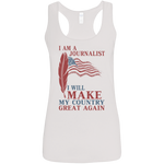 I Am A Journalist. Ladies' Softstyle Racerback Tank-Funny, Smart and Inspiration shirts with saying
