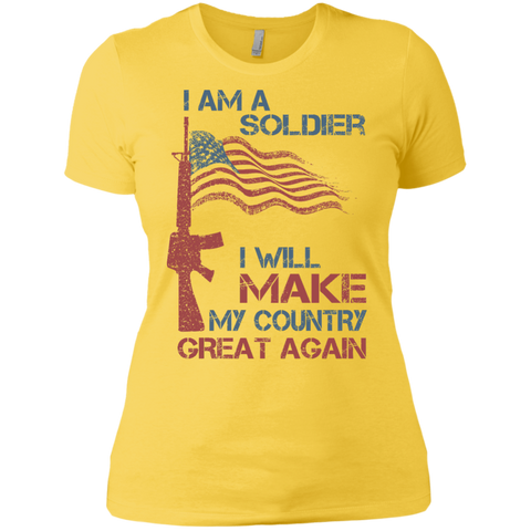 I Am A Soldier. Ladies' Boyfriend T-Shirt-Women T-Shirt-I Share Guru