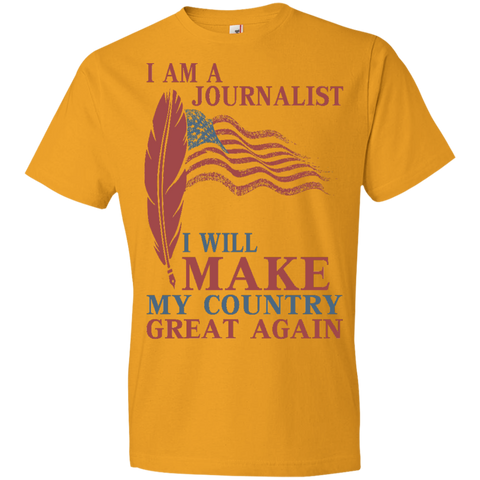 I Am A Journalist. Lightweight T-Shirt-Men T-Shirt-I Share Guru