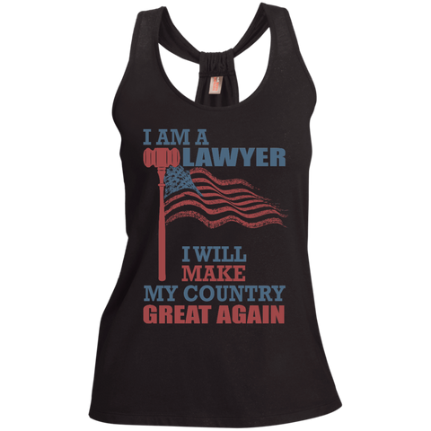 I Am A Lawyer. Ladies' Shimmer Loop Back Tank-Women Tank Top-I Share Guru