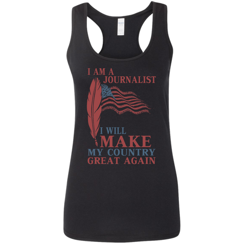 I Am A Journalist. Ladies' Softstyle Racerback Tank-Women Tank Top-I Share Guru