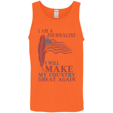 I Am A Journalist. Cotton Tank Top-Tank Top-I Share Guru
