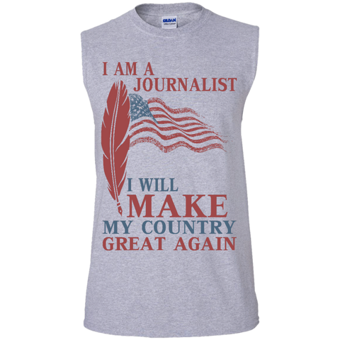I Am A Journalist. Men's Ultra Cotton Sleeveless T-Shirt-Tank Top-I Share Guru