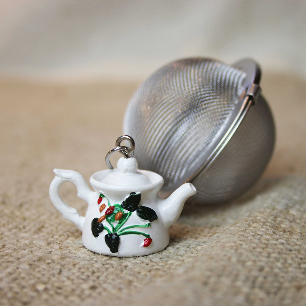 Floral Tea Pot Ball Infuser