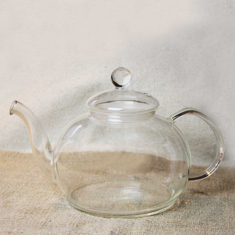 Large Round Glass Teapot