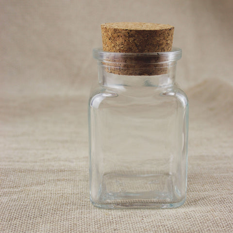 Cork Glass Bottle Square