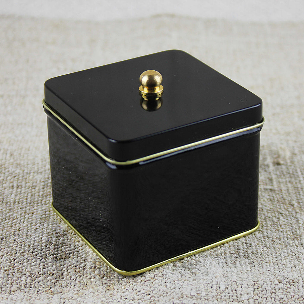 Square Black Tin