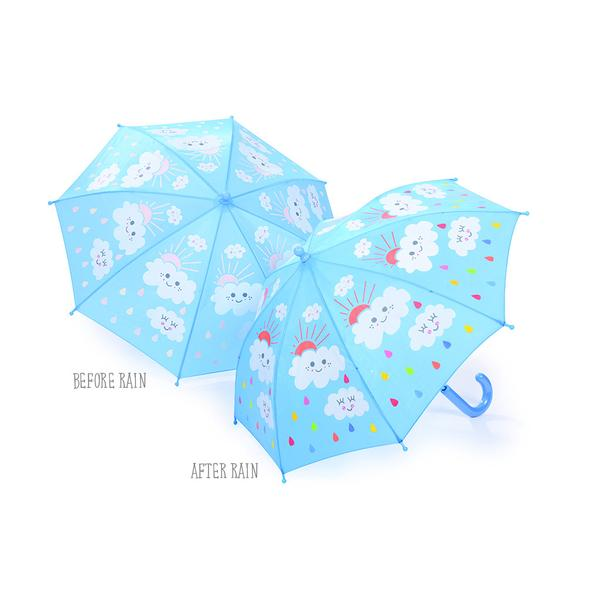 Colour Changing Umbrella - Raindrops And Clouds - NEW - Gifts~From~Dawn
