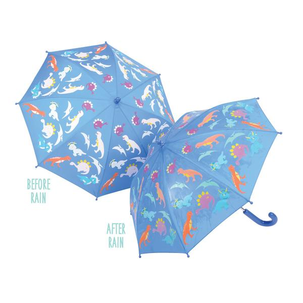 Colour Changing Umbrella Dinosaurs Blue - NEW - Gifts~From~Dawn