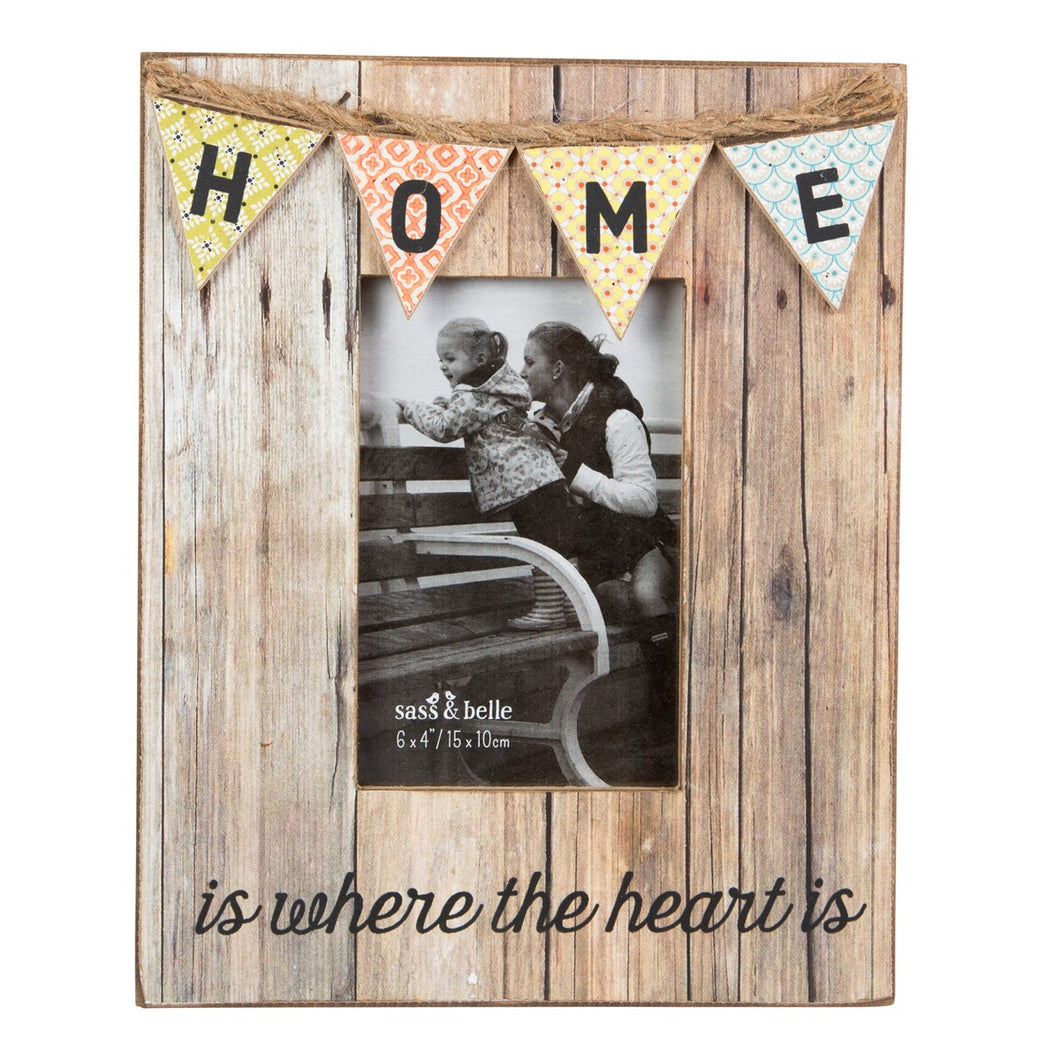 Home Rustic Bunting Photo Frame - Gifts~From~Dawn