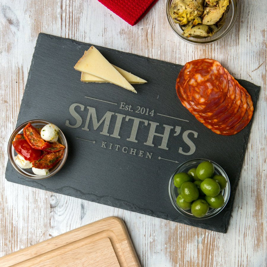 Engraved Chopping Board - Slate - Gifts~From~Dawn