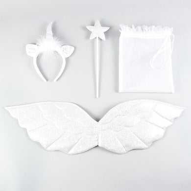 Dress Up Unicorn Headdress Wings and Star Wand Set - Gifts~From~Dawn