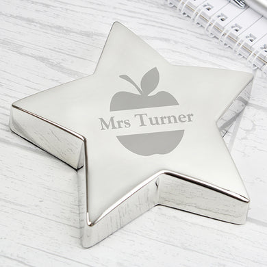Personalised Apple Star Paperweight - Gifts~From~Dawn