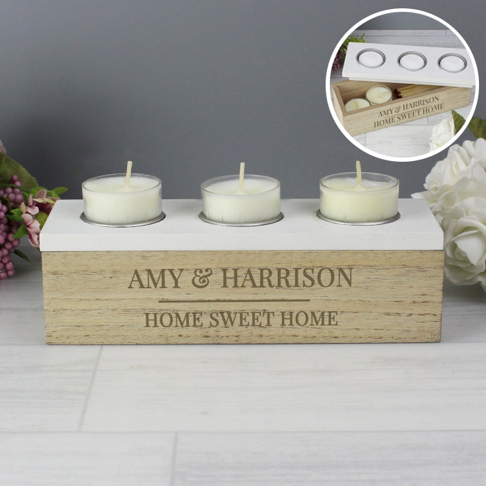 Personalised Classic Triple Tea Light Box - Gifts~From~Dawn