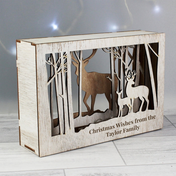 Personalised Reindeer LED Christmas Scene - Gifts~From~Dawn