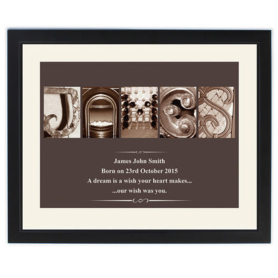 Personalised Affection Art - Framed print - Gifts~From~Dawn