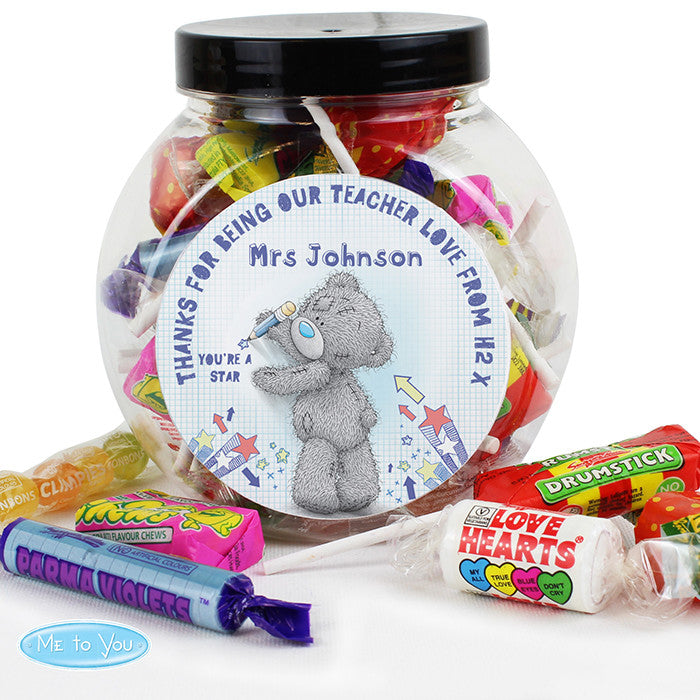 Personalised Me To You Teacher Sweets Jar - Gifts~From~Dawn
