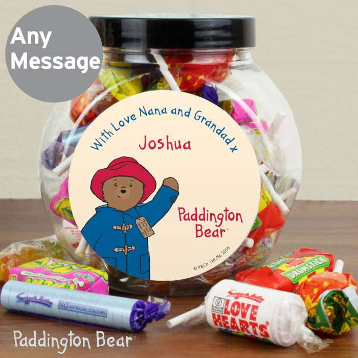 Personalised Paddington Bear sweetie jar - Gifts~From~Dawn