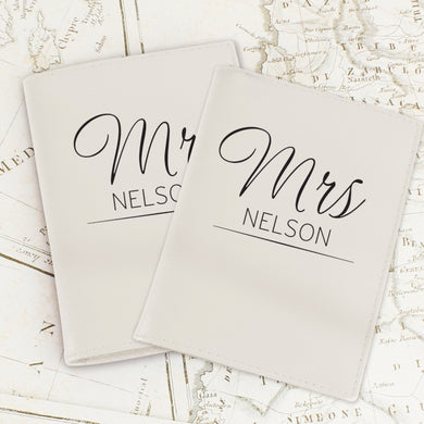 Personalised Classic Mr&Mrs Passport Holder - Gifts~From~Dawn