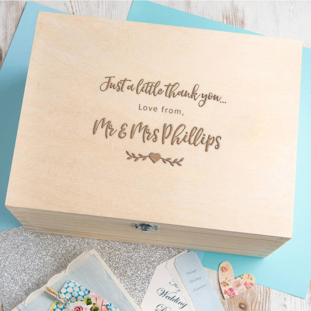 Personalised Wedding Thank You Box - Wooden - Gifts~From~Dawn