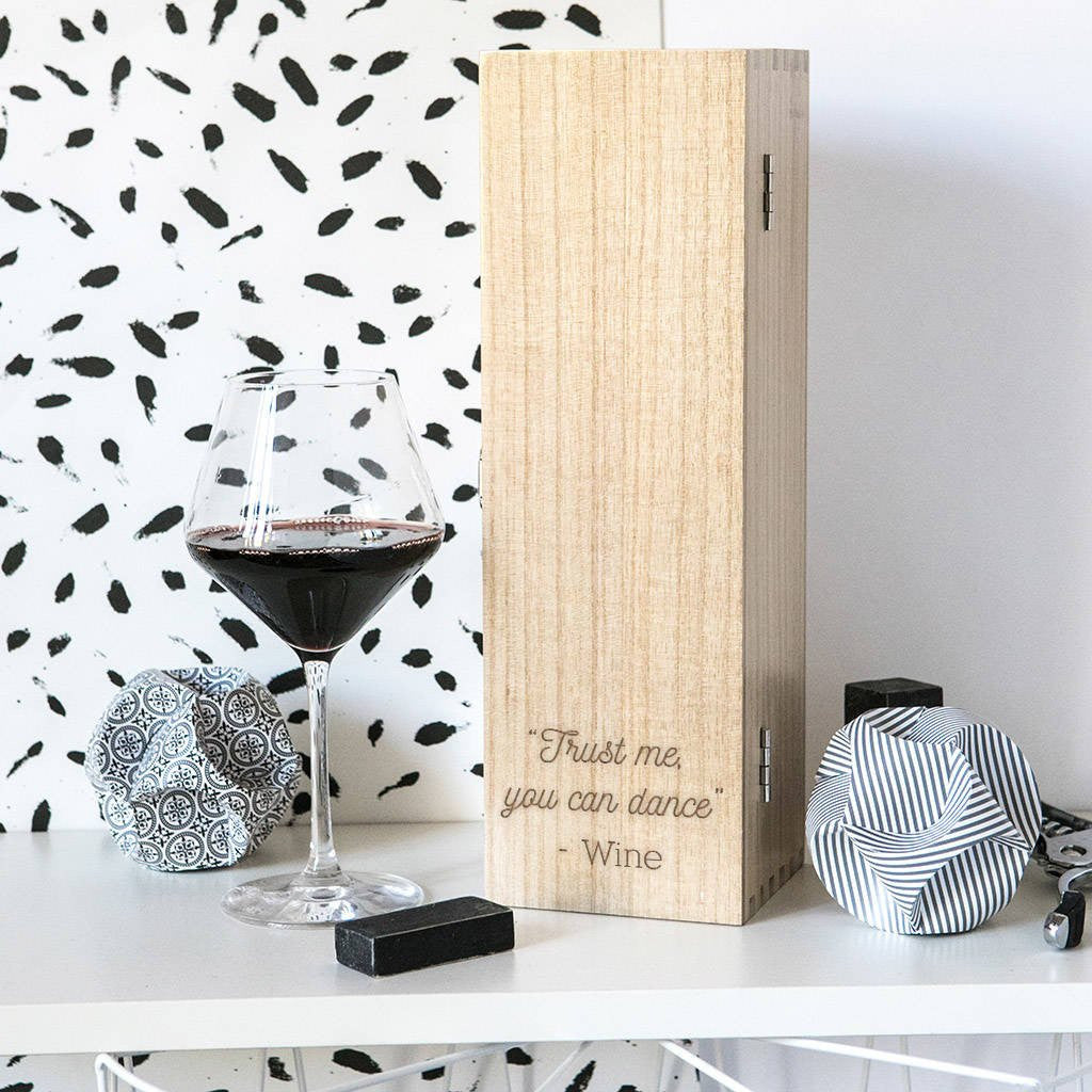 Trust Me - Wooden Wine Box - Gifts~From~Dawn