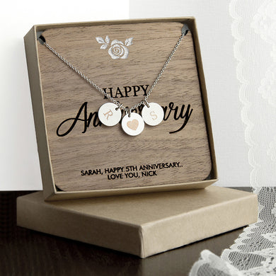 Personalised Happy Anniversary Necklace and Keepsake - Gifts~From~Dawn