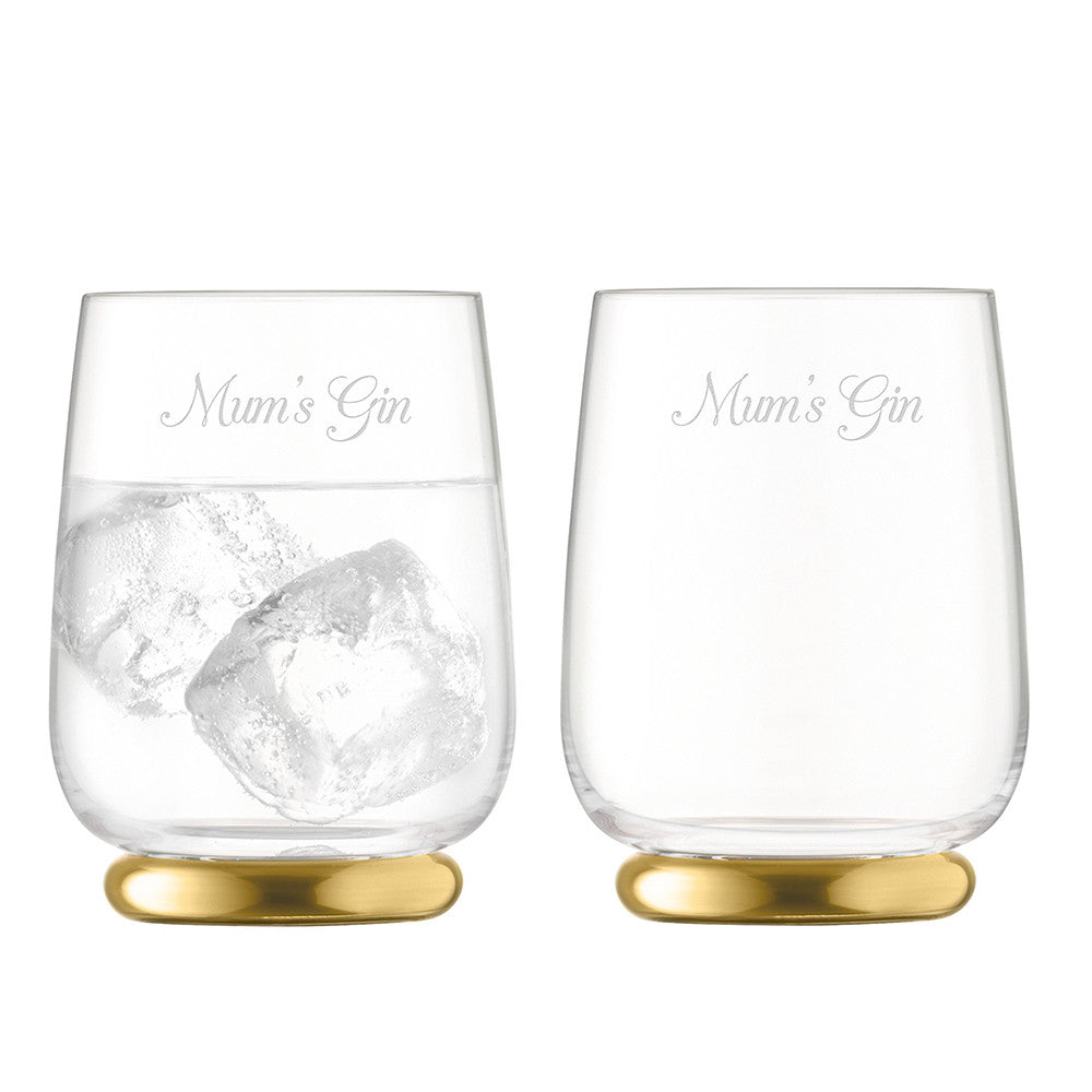 Personalised LSA Set Of Two Gold Tumblers - Gifts~From~Dawn