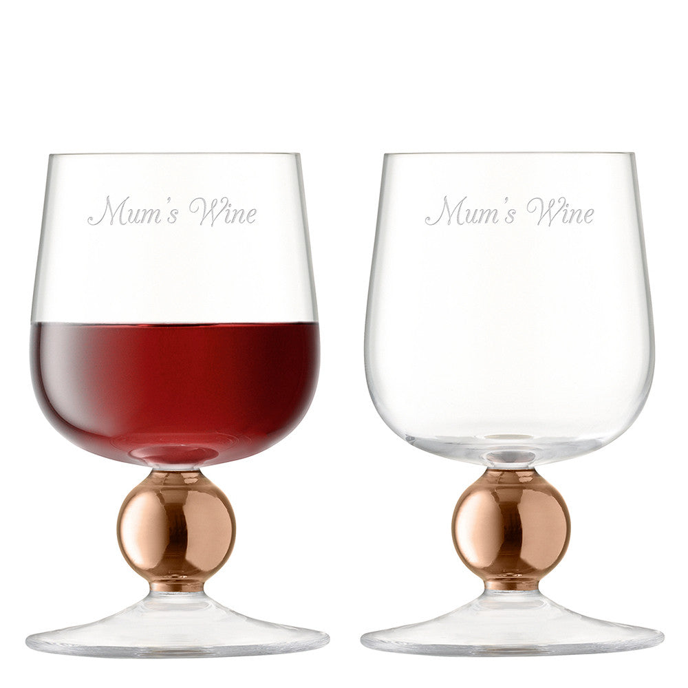 Personalised Set Of Two Rose Gold Wine Glasses - Gifts~From~Dawn