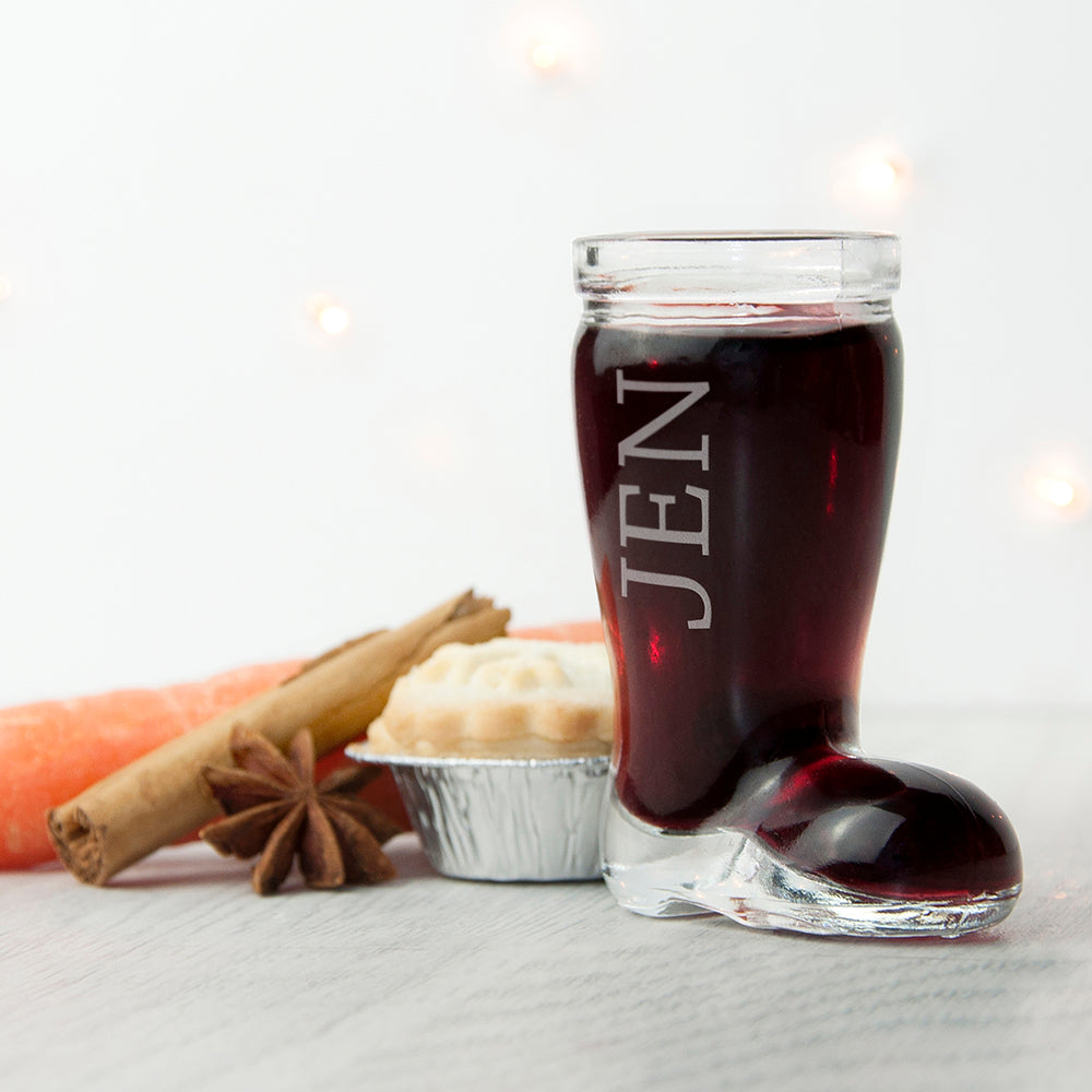Personalised Santa Boot Shot Glass - Gifts~From~Dawn