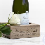 Personalised Solid Oak Champagne Holder - Gifts~From~Dawn