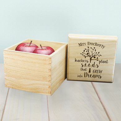 Personalised Teachers Plant Seeds Cube Box - Gifts~From~Dawn