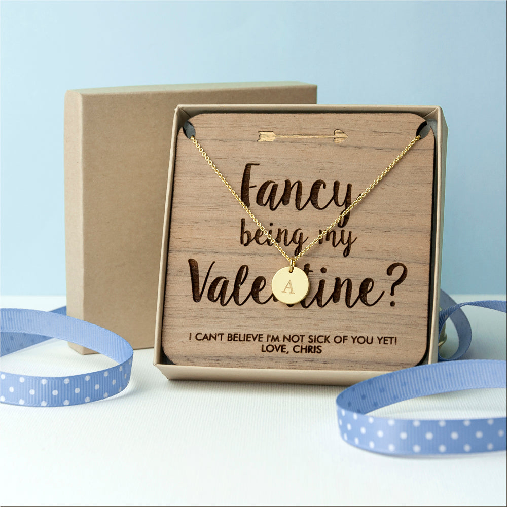 Personalised Will You Be My Valentine Necklace and Keepsake - Gifts~From~Dawn