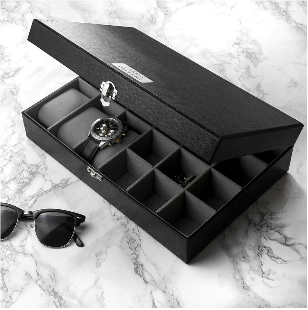 Personalised Watch & Cufflinks Box - Gifts~From~Dawn