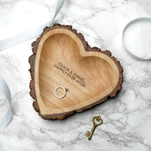 Rustic Carved Wooden Heart Dish - Gifts~From~Dawn